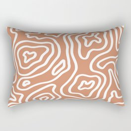 Topographic Abstract | Sunset Orange Rectangular Pillow