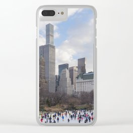 Winter in Manhattan Clear iPhone Case