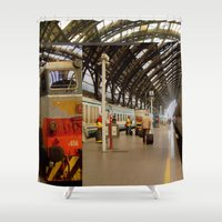 milan Shower Curtains featuring milan glitch by Martin Summers