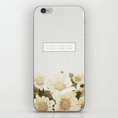 Close Your Eyes   Clear Your Mind iPhone & iPod Skin