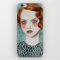 woman iPhone & iPod Skins featuring Sasha by Sofia Bonati