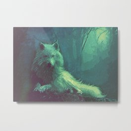 wolf canvas art Metal Print