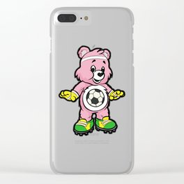 SOCCER Player TEDDY Bear Son Daughter Pit Cleats Clear iPhone Case