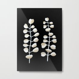 White Eucalyptus Leaves Metal Print