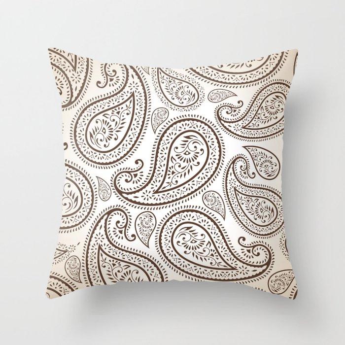 Paisley Threads Throw Pillow