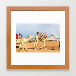 Rainbow Beach Framed Art Print
