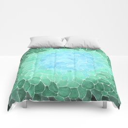 Abstract Sea Glass Comforters