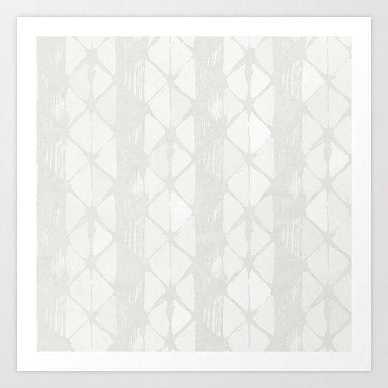 Simply Braided Chevron Lunar Gray Art Print