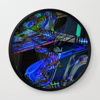 sneakers Wall Clocks featuring Sneakers by Aimee St Hill