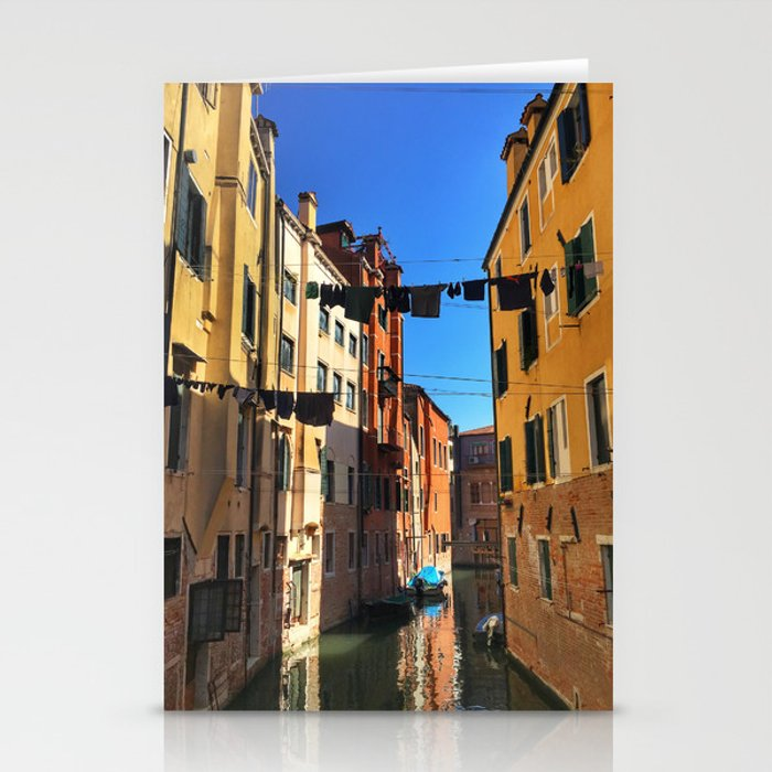 Laundry Day in Venice Stationery Cards