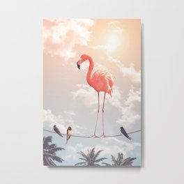 FLAMINGO & FRIENDS Metal Print