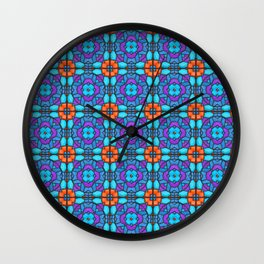 Southwestern Glass Tile Digital Art Wall Clock
