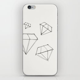 Diamond Dream - Original Ink Sketch iPhone Skin
