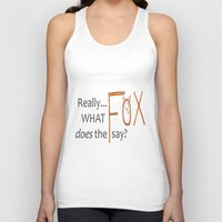 philosophy Tank Tops featuring Deep philosophy by elisabethfryd