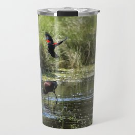 The Ibis Ignore the High Drama at the Pond Travel Mug