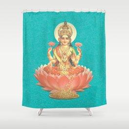 Lakshmi, Goddess of Love (Turquoise) Shower Curtain