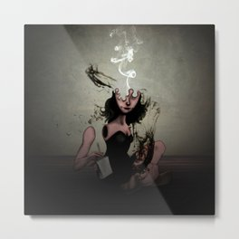 "The Poet ""Smoke"" Metal Print"
