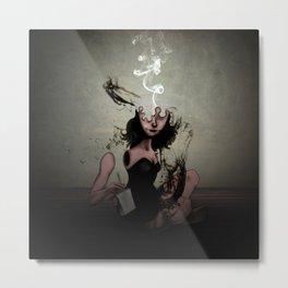 """The Poet """"Smoke"""" Metal Print"""