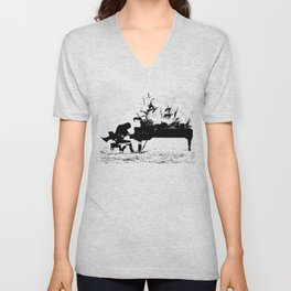 Pianist Passion Unisex V-Neck
