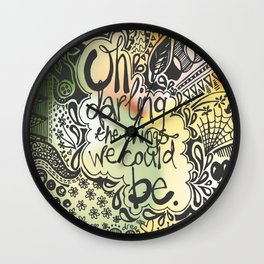 Doodle with colour Wall Clock