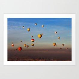 Fairytale dreams of hot air balloons Art Print