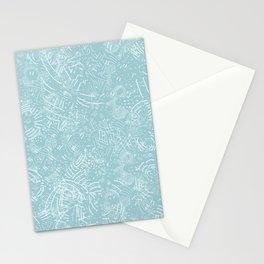 Cave Drawings - Aqua Stationery Cards