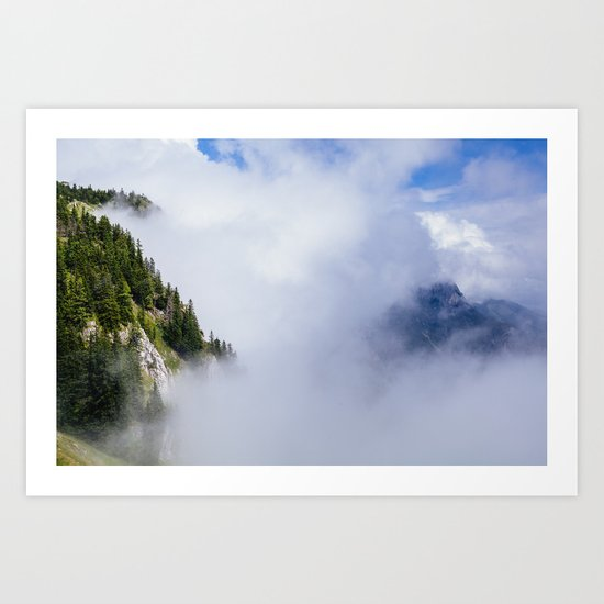 What is hidden in the clouds Art Print