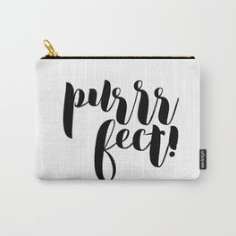 purrrfect! (black) Carry-All Pouch