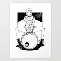 drum'n'cigarette Art Print