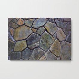 Stone Mosaic Wall Metal Print