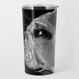 english bulldog dog vector art black white Travel Mug