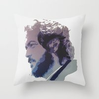 kubrick Throw Pillows featuring Kubrick by Davidjonesart