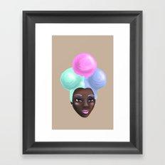 Miss IceCream Framed Art Print