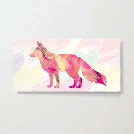 Abstract Fox Metal Print