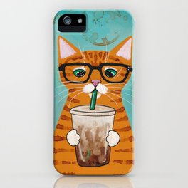 Iced Coffee Cat iPhone Case