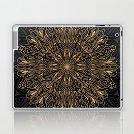 MANDALA IN BLACK AND GOLD Laptop & iPad Skin