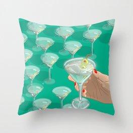I Like Dirty Martinis Throw Pillow