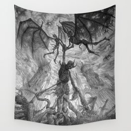 The Infernal Metaphor for an Apathetic Existence Wall Tapestry