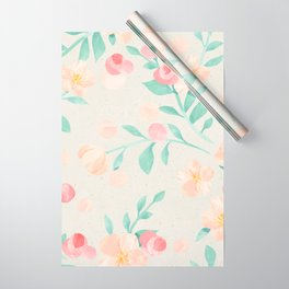 Seamless Pastel Magical Plant Floral Pattern Cute Whimsical Wrapping Paper