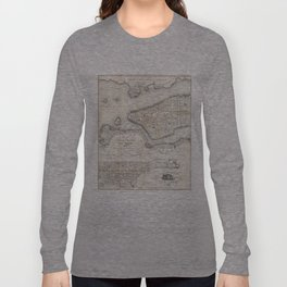 Vintage Map of New York City (1860) 2 Long Sleeve T-shirt