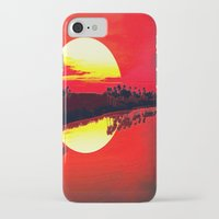 duvet cover iPhone & iPod Cases featuring Sunset duvet cover by customgift