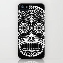 Black Skull  White Suits iPhone Case
