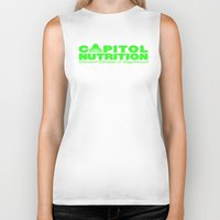 lime green Biker Tanks featuring Capitol Lime Green by Capitol Nutrition