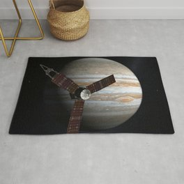 Juno Mission to Jupiter 2009 Artist Concept Rug