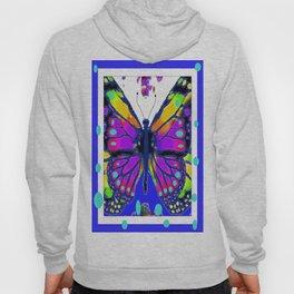 Decorative Artistic Color Monarch Butterfly Purple Dreams   Hoody
