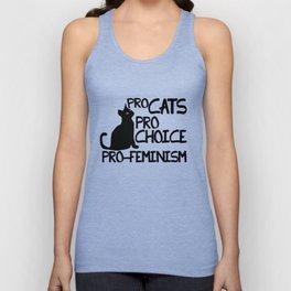 Pro Cats Pro Choice Pro Feminism Unisex Tank Top
