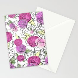 Swirly Florals Stationery Cards