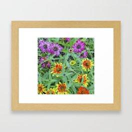 Flower Jamboree Framed Art Print