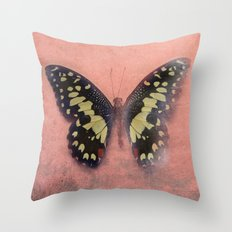 Vintage Butterfly 3 Throw Pillow