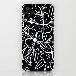 Chalk Florals iPhone Case